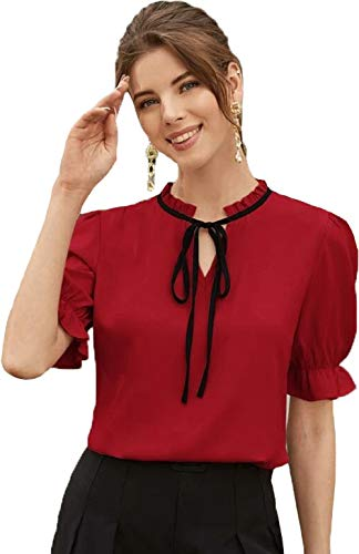J B Fashion Plain Women Top with Half Sleeves for...