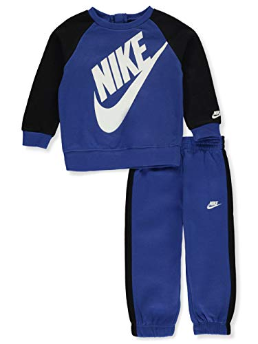 Nike - Tuta Oversized Futura Neonato Felpa e Pantaloni Bimbo 66F653 U89 Blu - 12 Mesi, Blu