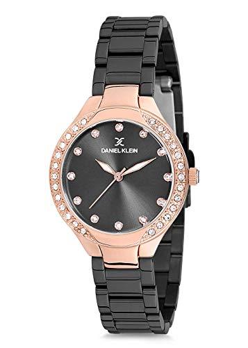 Daniel Klein Reloj de pulsera para mujer (DK12195) – acero inoxidable – 32 mm analógico reloj...