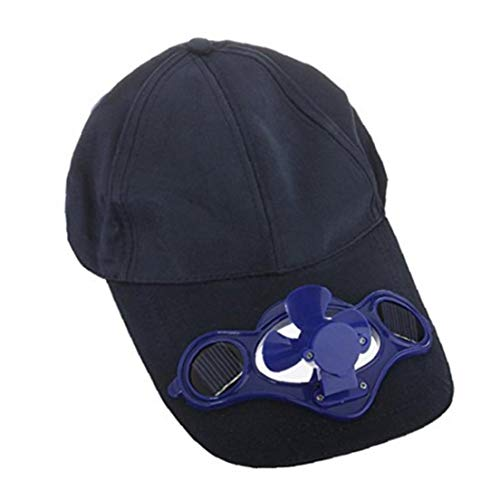 Reise Camping Cap Solarbetriebene Klima Fan Cooled Baseball-Mütze Mit Solarbetriebene Ventilator-Kühl Kappen Für Outdoor (Dark Blue)