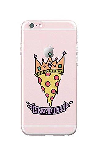 Shinshop - Compatible for iPhone 6 Plus/iPhone 6S Plus - Durable Slim Case - Pizza Queen - Pizza - Pizza Lover - Cute - Cute Pizza - Fun - Funny - Quote - Pizza Quote