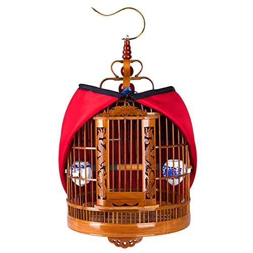 Jaula Para Pájaros De La Torre Juego De Accesorios Para Jaulas Para Pájaros Jaula Para Canarios Boutique Jaula Para Pájaros De Estornino De Bambú Grande Y Antigua Jaula Para Pájaros De Bambú Tallada A