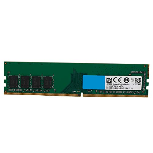 Andifany 8GB PC Computer Memory DDR4 PC4 2666Mhz CL19 Desktop DDR4 Motherboard 288-Pin UDIMM Memory