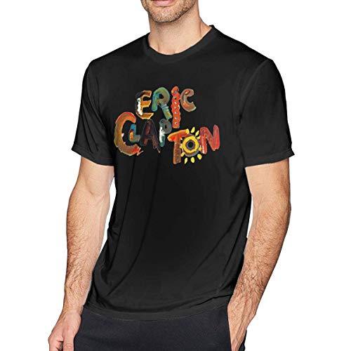 Sportswear heren shirt met korte mouwen, Eric Clapton Mens Fashion T Shirt katoenen T-shirt korte mouw