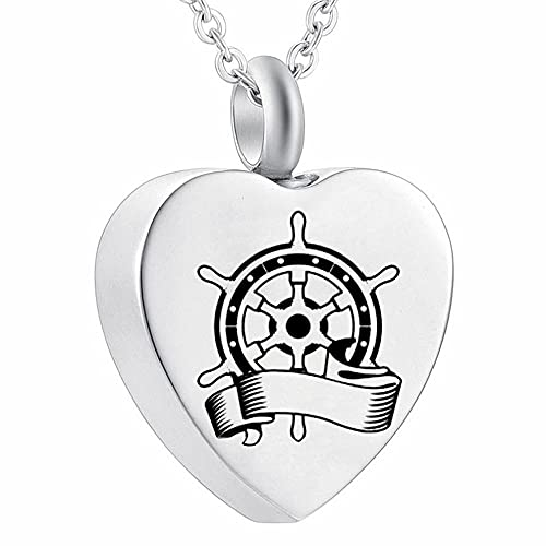UGBJ Cenizas Colgante Acero 24 Species Stainless Steel Memorial urne Jewelry Dog Paw Printing Fire Burial Jewelry Ash Holder Pet urn Necklace for Ash Storage urna cremación Collar Memorial