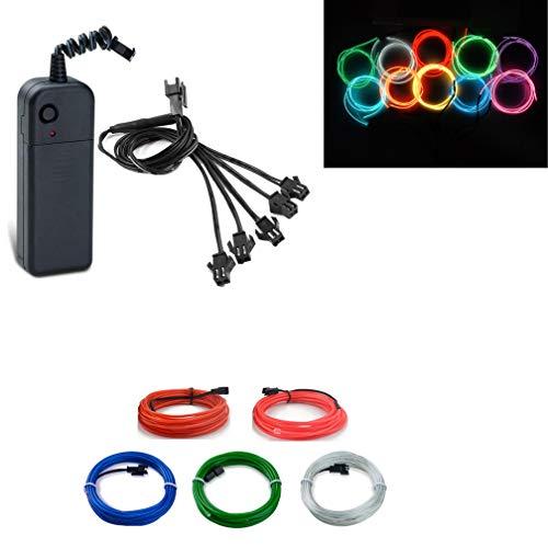 Multi farben el drähte flexible tragbare neonlichter neonröhre beleuchtung hohe helligkeit 5 * 3ft el draht (Blau/Grün/Rot/Rosa/Weiß)