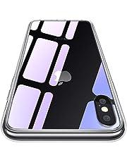 CASEKOO iPhone XS Max ケース クリア 背面強化ガラス 全面保護カバー アイフォン XS Max ケース 透明 ハードケース 耐衝撃 qi対応 ストラップホール付き