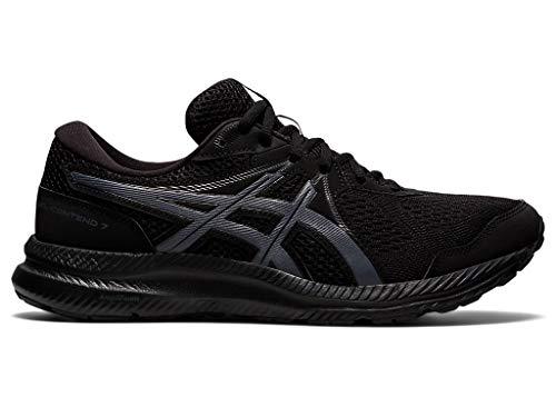 ASICS Men's Gel-Contend 7 Running Shoes, 11M, Black/Carrier Grey