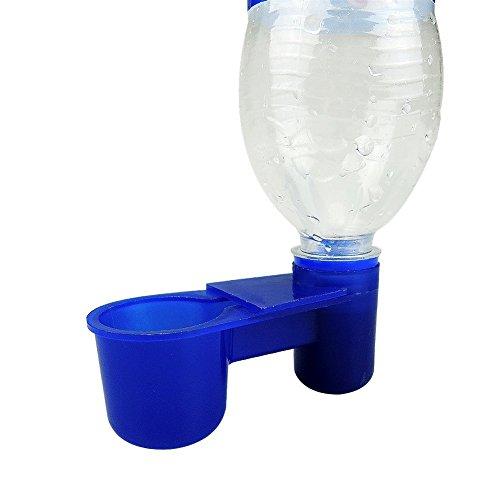 10Stück Kunststoff Cola Flasche Stil Vogel Wasser Feeder Trinkbecher Futtertrog Vogelkäfig Zubehör Taube Parrot livestocktool