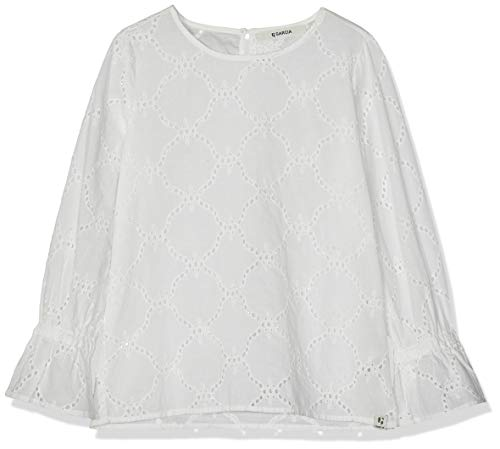Garcia Kids Mädchen C92433 Bluse, Weiß (Off White 53), 152 (Herstellergröße: 152/158)