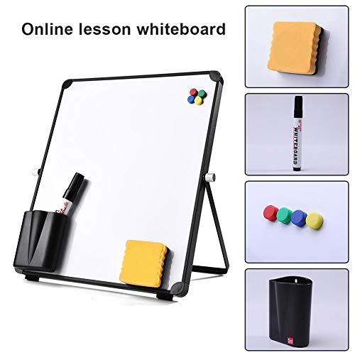Magnetisch whiteboard Droog uitwisbaar wit bord met standaard, 10 x 12 inch Glad, duurzaam wit bord voor online lessen Kantoor, set van 8 pakketten