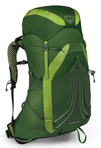 Osprey Exos 48 Men's Backpacking Backpack, Tunnel Green, Medium