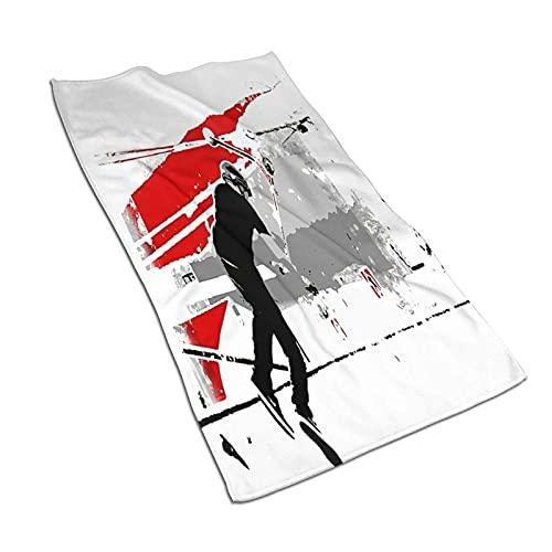 DJNGN Toallas de Mano, Spinning The Deck TailWhip Scooter Stunt, Estampado de patrón Toalla de baño Suave Altamente Absorbente para baño, Hotel, Gimnasio y SPA 27 'x 15'
