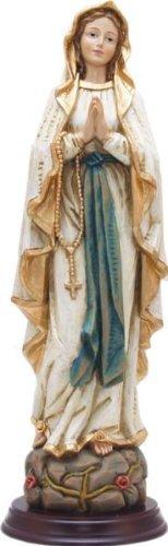 Virgen,Virgen Lourdes,Aspecto Madera,Altura 30cm