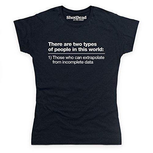 Incomplete Data T-shirt, Donna, Nero, L