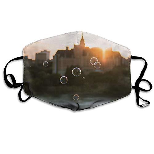 Polyester masker, bubbels op het oppervlak van water, stofdicht masker, met knoppen om de dichtheid aan te passen, geschikt voor iedereen