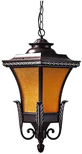 Solares Balizas Jardin Lámparas Solares Para Jardí Impermeable de techo de metal colgando colgante al aire libre de la vendimia de cristal de la lámpara de luz de la linterna E27 Pabellón Jardín Porch