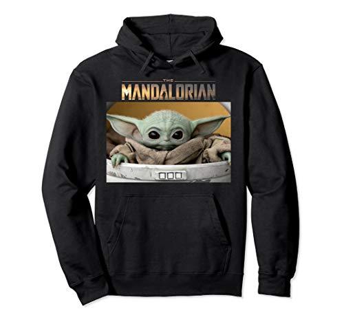 Star Wars The Mandalorian The Child Pod Screenshot Logo Pullover Hoodie