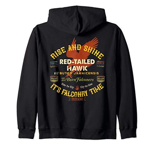 Diseño de halcón de cola roja de halconero Suministros de Sudadera con Capucha
