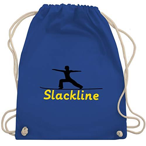 Sport Wandern Football & Co. - Slacklinen - Unisize - Royalblau - slackline tasche - WM110 - Turnbeutel und Stoffbeutel aus Baumwolle