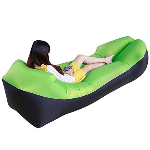 ZCXBHD Opblaasbare ligstoel met hoofdsteun, waterdicht, luchtlekkage, comfortabele opblaasbare bank voor zwembad, strandfeesten