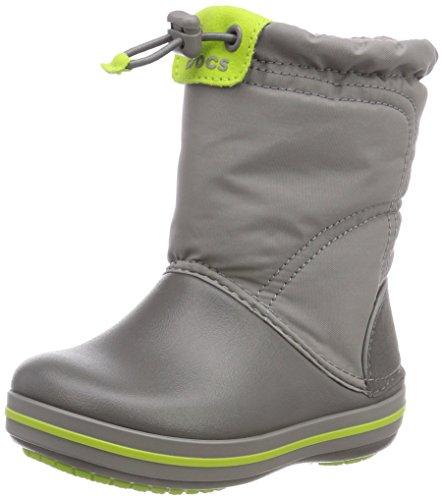 Crocs Crocband Lodgepoint Boot, Bottes de Neige Mixte enfant Gris (Smoke/graphite)30/31 EU