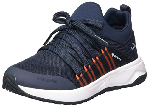 viking Unisex Kinder Engenes GTX Walking-Schuh, Navy/Orange