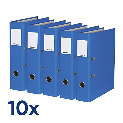 Biella Ordner Plasticolor® SwissMade, A4, 7 cm, mit Strong-Mechanik, blau, Box mit 10 Stück