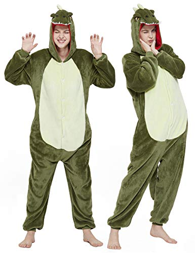 CASABACO Adult Dinosaur Onesie Costume Outfit...