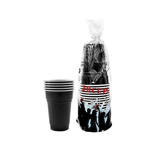 Pack de x20 Original Black Cups Officiels | Gobelets Américains 25cl Noirs | Beer Pong | Qualité Premium | Gobelets en Plastique Réutilisables | Lavables Main et Lave-Vaisselle | OriginalCup®