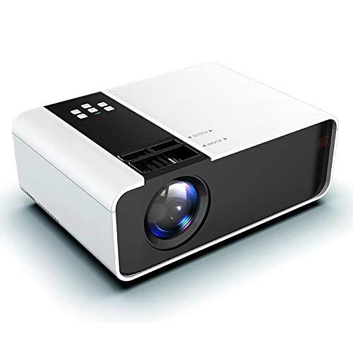 Proyector LED, 1080p inalámbrica Wi-Fi de Vedio Beamer, 6000 lúmenes proyector portátil de película con 30.000 Hrs llevó la Vida de la lámpara, Compatible con HDMI, VGA, TF, AV y USB (Color : White)