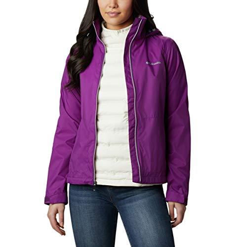 Columbia Women's Plus Size Switchback III Adjustable Waterproof Rain Jacket, Plum, 3X