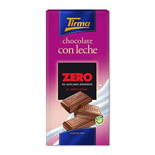 Tirma Chocolate ZERO con Leche - Sin Azúcares Añadidos, 125g