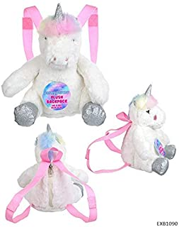 Expressions UNICORN Plush Backpack - Novelty Girls Accessories