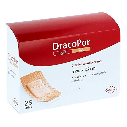 DracoPor 7,2 cm x 5 cm hautfarben soft steriler Wundverband, 25 St. Wundauflagen