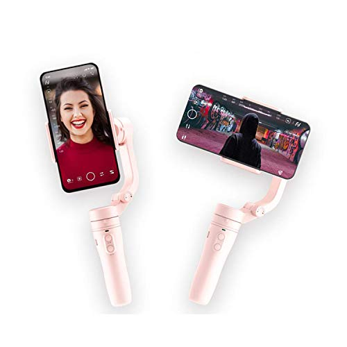 FeiyuTech Vlog Pocket Pink Smart Phone Gimbal with Tripod for iPhone X 8 7 Plus 6 Android Samsung Note9 Huawei P30 pro Xiao MI VIVO NEX