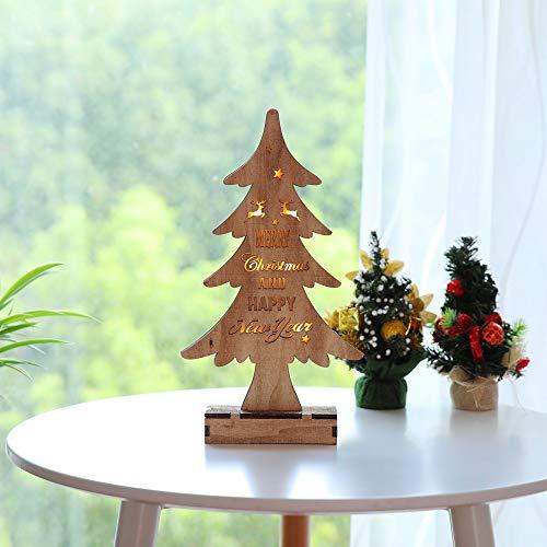 Solike Mignons Ornements de LED Décoration de Vacances de Fenêtre de Lumières de LED Arbre de Noel (Marron, Taille unqiue)
