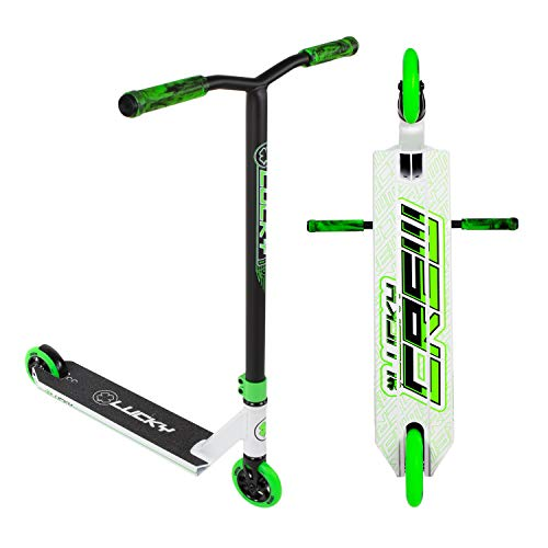 LUCKY Crew 2019 Scooter Freestyle (Blanco/Negro/Verde)
