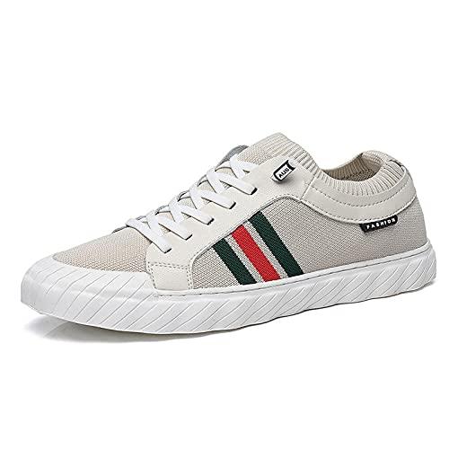 Aerlan Running Shoes with Air Padding,Zapatos de Senderismo al Aire Libre Masculinos-White_43,Zapatos Deportivos para Correr