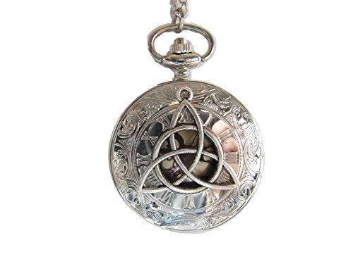Rome Number The Flower of Life Charm Pendant Watch, Antique Silver Watch Necklace