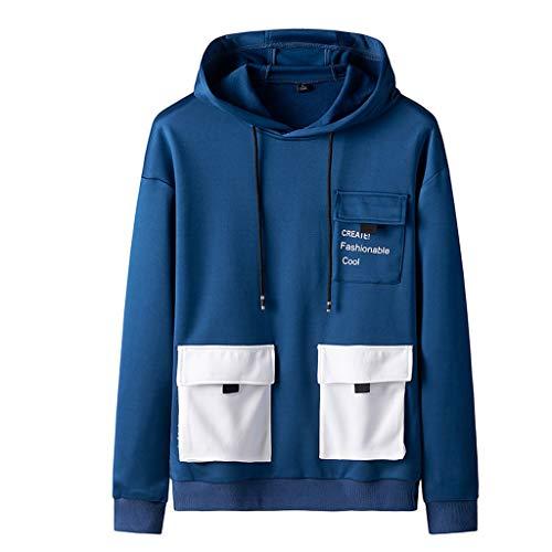 Amphia Herren-Pullover, Männer Casual Herbst & Winter Hoodies Lange Ärmel Sweatshirt Outwear Coat