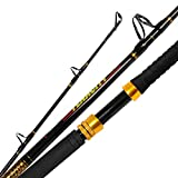 Fiblink Fishing Trolling Rod 2 Piece Saltwater Offshore Rod Big Name Heavy Duty Rod Conventional Boat Fishing Pole (7',30-50lbs)