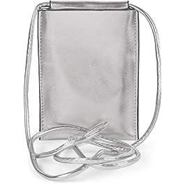 styleBREAKER Sac à bandoulière métallique pour téléphone Portable pour Femmes, Sac à bandoulière, Sac de Transport pour…