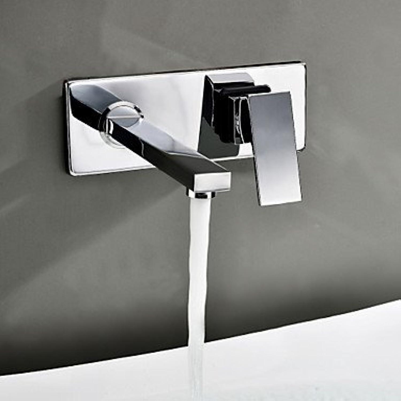 SEBAS Home Becken Wandmontage Waschbecken Wasserhahn (Chrom-Finish) Wasserhahn Waschtischarmatur