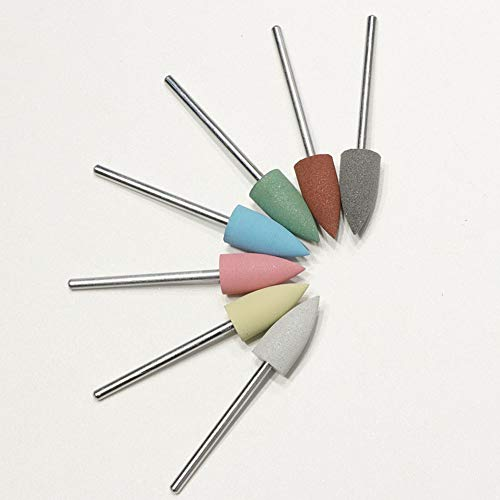 7 PCS Nail Art Nail Drill Bits Polonais Outil Accessoires Alliage Tungstène Acier Manucure Pédicure Set Nail Poussière Brosse De Nettoyage Forets