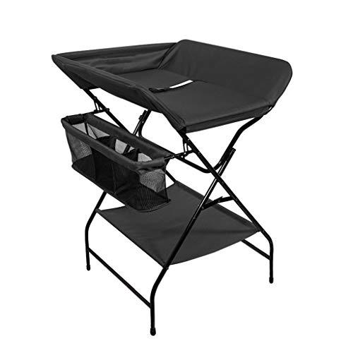LAMXF Wickeltisch für die Toilette mit Kissen, Korb und Korbraum Junge Mädchen/Wickeltablett für Kommode/Wickelstation wechseln/Polster und Sicherheitsgurt wechseln/Baby-Pflegestation