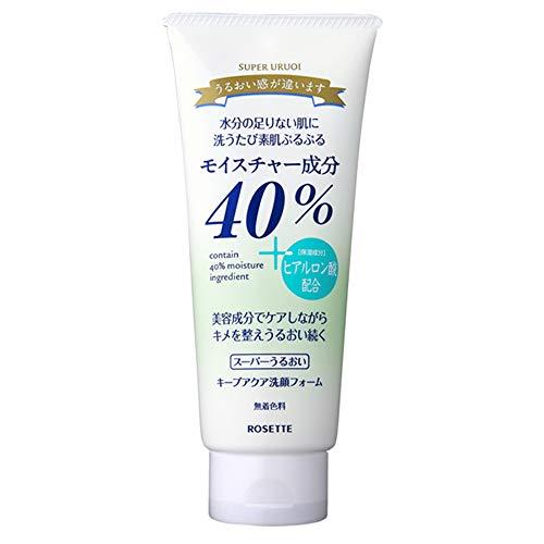Rosette Facial Washing Foam Super Uruoi Keep Aqua - 168g
