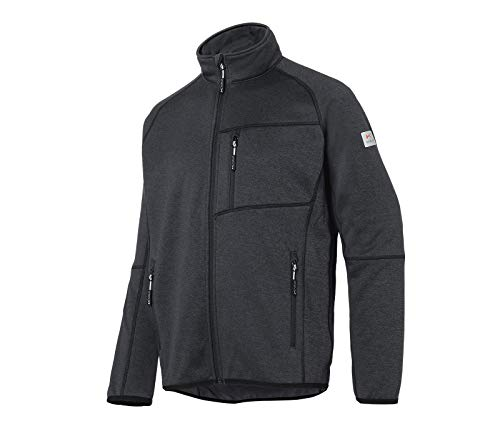 KÜBLER Workwear KÜBLER Weather Fleecejacke grau, Größe 3XL, Unisex-Fleecejacke aus Mischgewebe, Funktionelle Fleecejacke