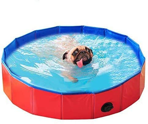 JPYH Piscina Plegable para Perros,iscina para Niños,Piscina Plegable para Perros, Bañera Plegable de Mascotas Baño Portátil para Animales Piscina para Perros Gatos Adecuado para Interior Exterior