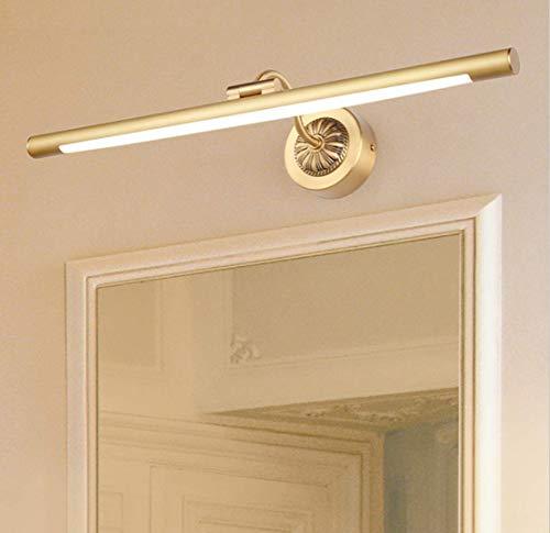 WIVION Leuchte Badezimmer Mit Schalter Lampe Für Spiegel Wandleuchte Badezimmer Led Neutral Weiß, 4000 Karat Make-Up Schrank Schrank Wc Wandgerät,Gold,8W/43cm